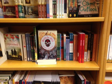 Button Hill - first day at McNally Robinson in Saskatoon - only 3 feet from Roald Dahl!