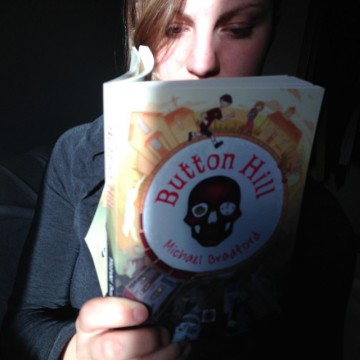 "Jodi says: ""Just finished a fantastic, creepy new book by my awesome VP Michael Bradford.  'Button Hill' is a must read. My students are going to love it when I start reading it to them this week."""